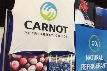 Carnot Refrigeration's booth at the Global Cold Chain Expo in Chicago this week