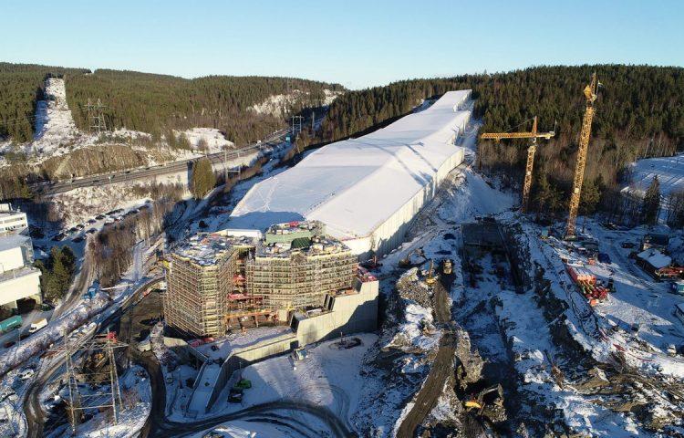 Betonmast. SNØ in January 2019. 1st phase in Snøporten.