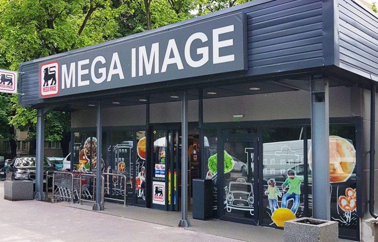 Mega Image store in the Straduintei district, Bucharest, Romania