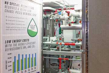 Heatcraft's low-charge ammonia rack used in its NH3/CO2 cascade system