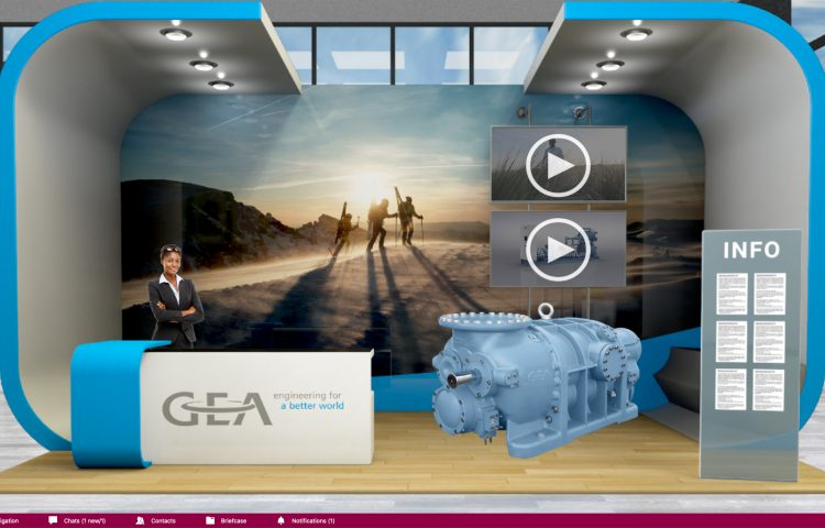 GEA's booth at the Virtual Trade Show
