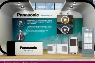 Panasonic booth at the Virtual Trade Show
