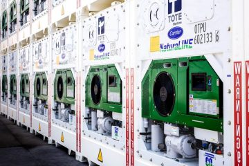 Carrier Transicold's NaturaLINE CO2 refrigerated container for TOTE Maritime Puerto Rico Photo via Carrier