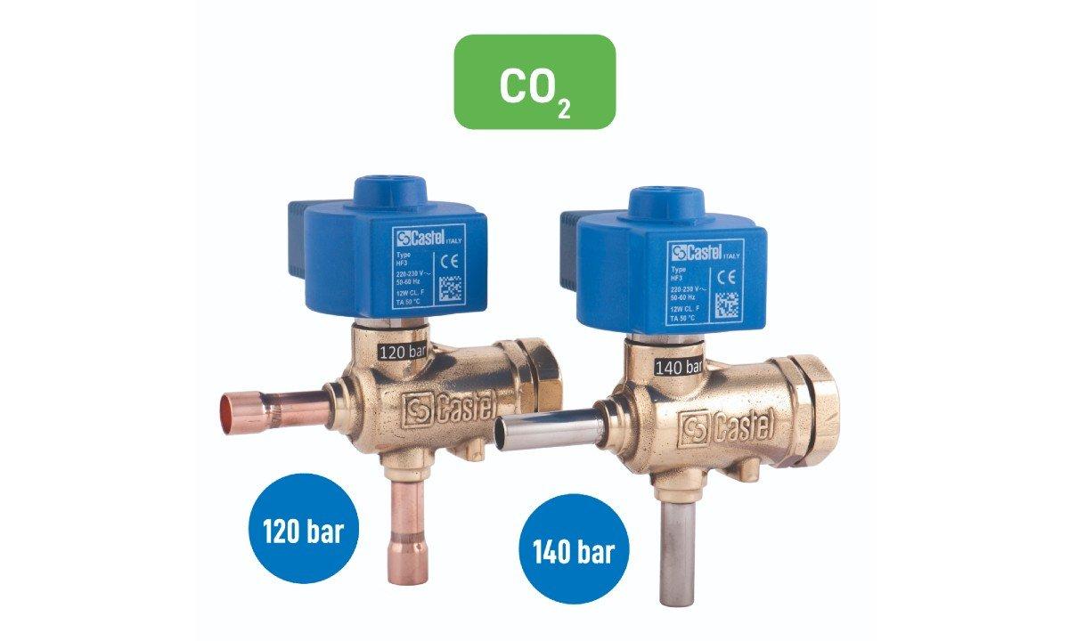 Castel CO2 solenoid valves.