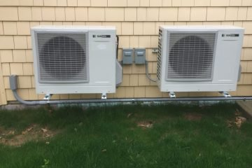 Sanden CO2 heat pumps outside Dave Sweet's home