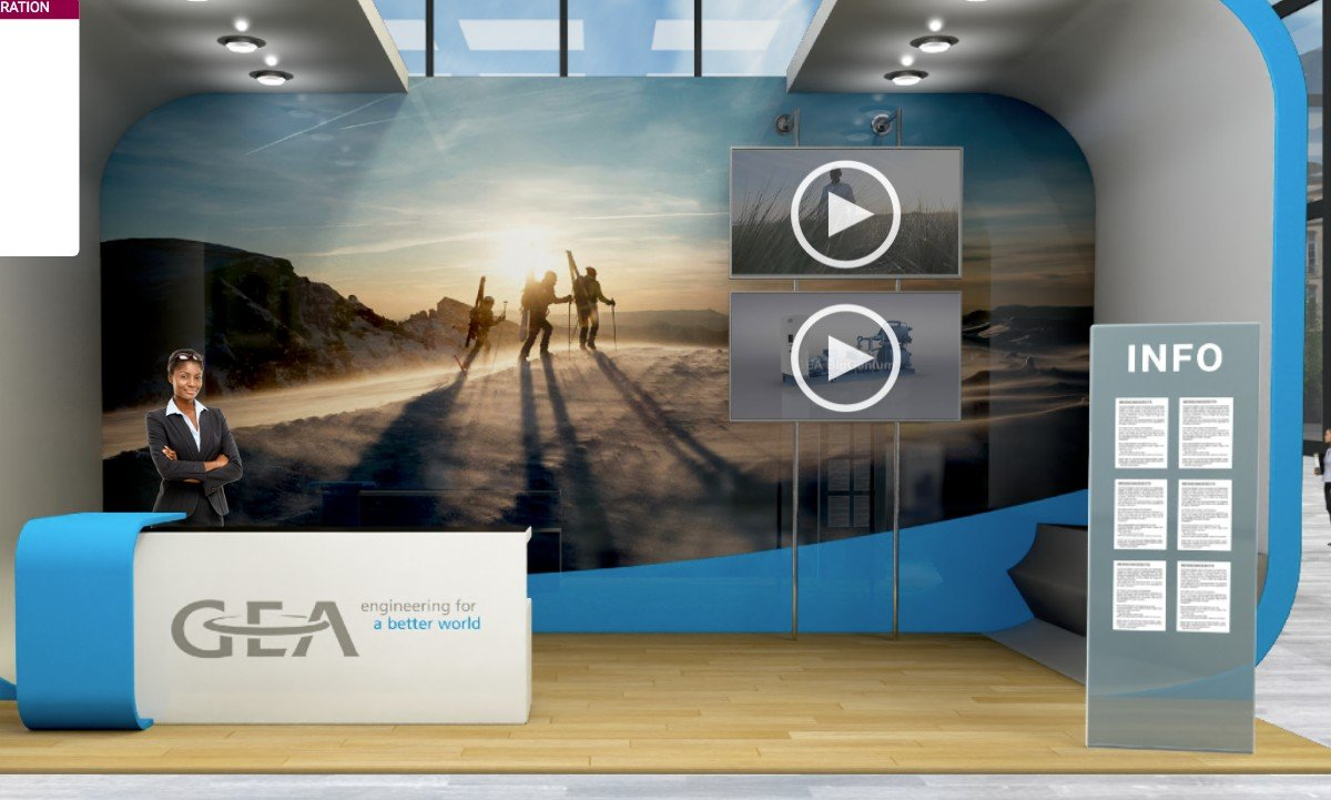 GEA booth at the Virtual Trade Show