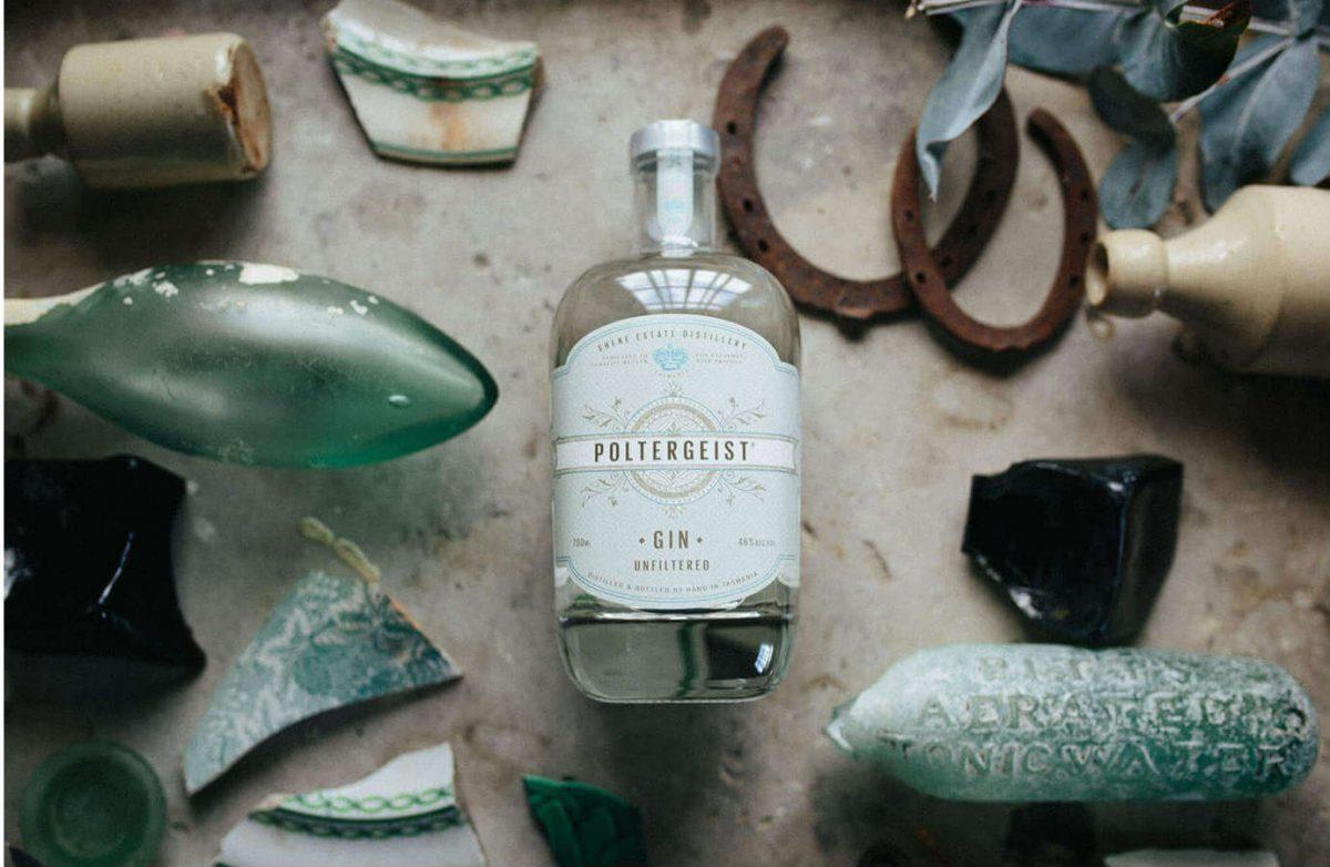 Shene Estate's award-winning Poltergeist gin.