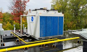 BAC adiabatic gas coolerat Hannaford's South Burlington, Vermont, store