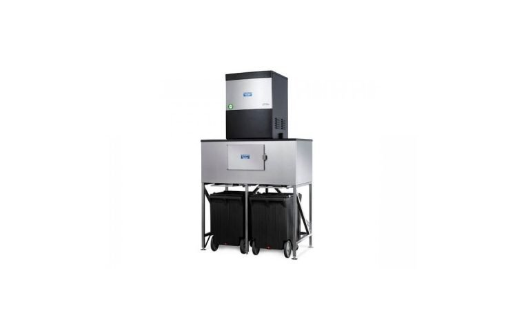 Howe CO2 ice machine with storage bins