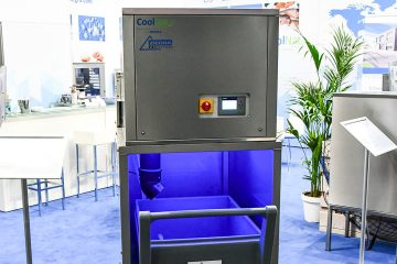 The new ice machine on display at Euroshop.