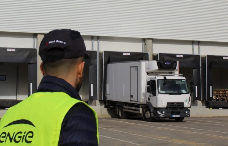 Sysco France, food warehouse in Lagny-le-Sec, France, where an ENGIE NH3/CO2 cascade refrigeration system is being installed.