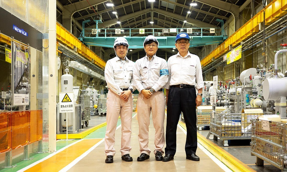 Left to right: Shiro Hayami, Shinichi Yageta, Hideyo Asano, Mayekawa Mfg. Co., Ltd.