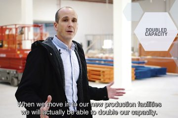 Kristian Breitenbauch, Advansor's CEO, giving a tour of the new facility.