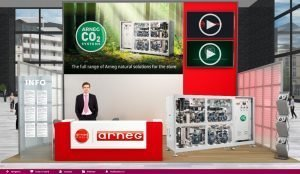 Arneg booth at the Virtual Trade Show