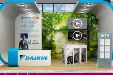 Daikin booth at the Virtual Trade Show