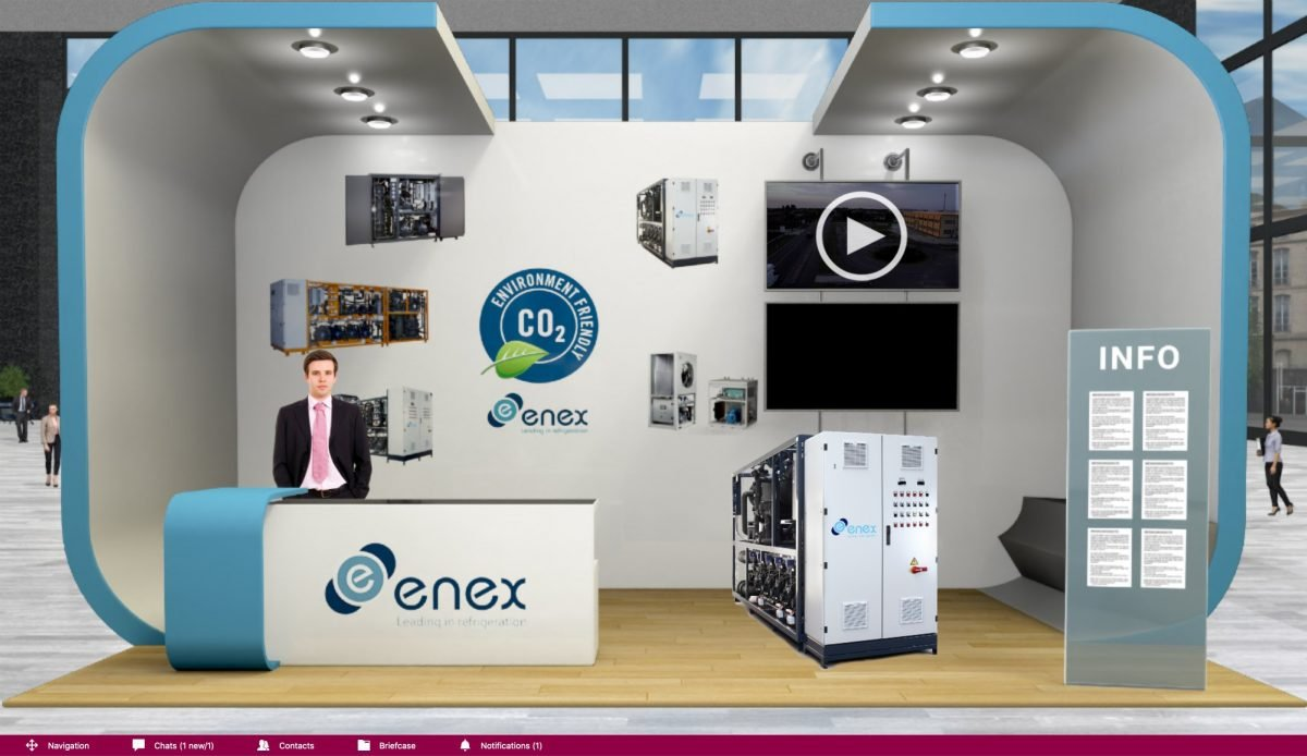 Enex presents its CO2 chiller at the Virtual Trade Show