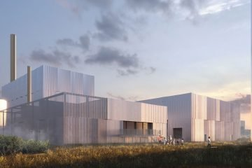 Artist's rendition of the new facility in Esbjerg, to house the 50MW CO2 heat pump.