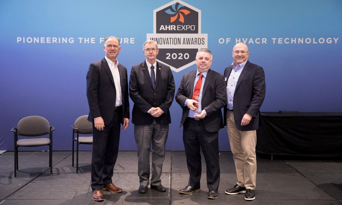 Danfoss wins the Product of the Year award at the AHR Expo. Photo: AHR.