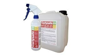 The Carlysafe RTU disinfectant for refrigeration and HVAC.