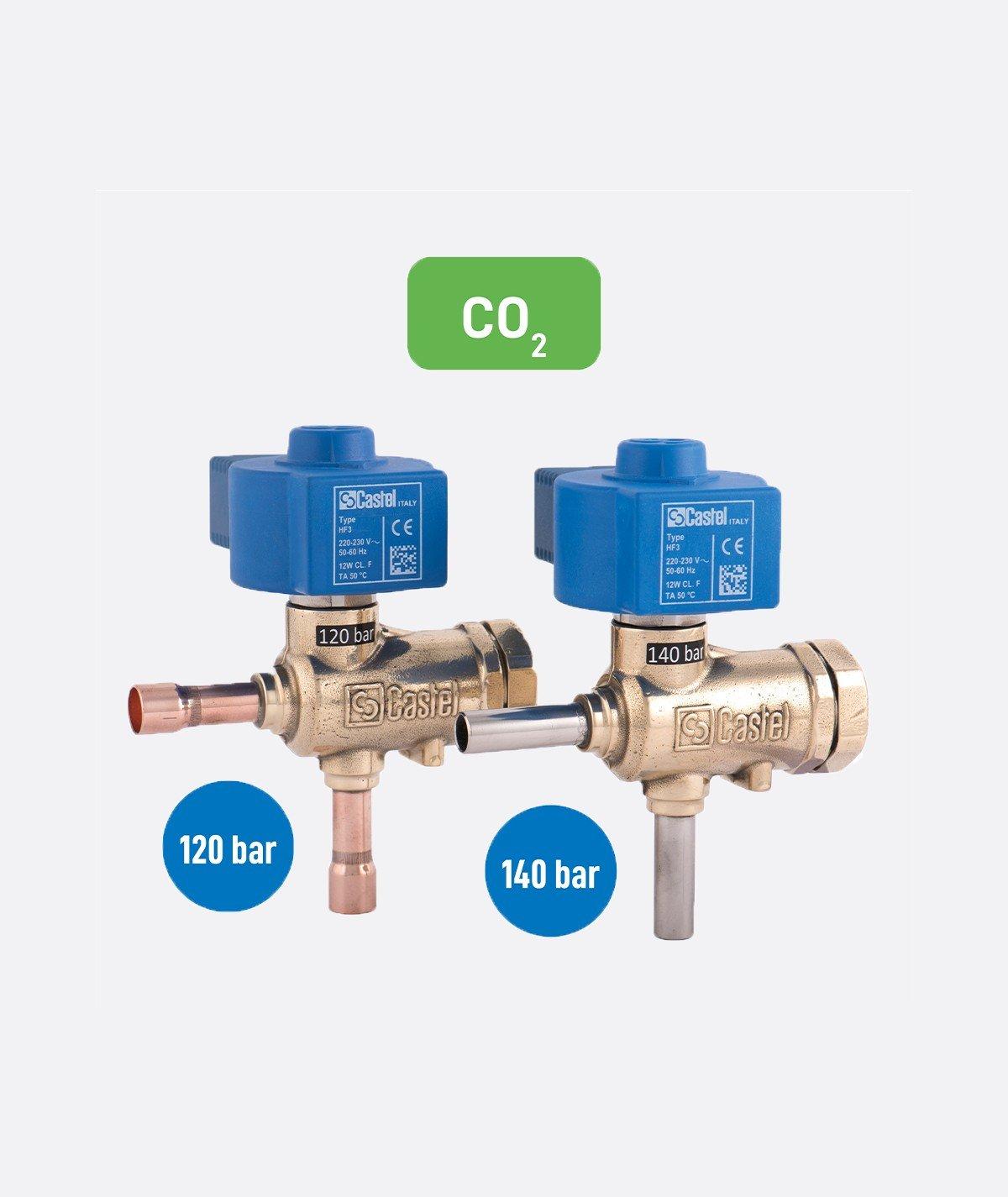 CO2_Solenoid Valves HP_con_bollini_Castel
