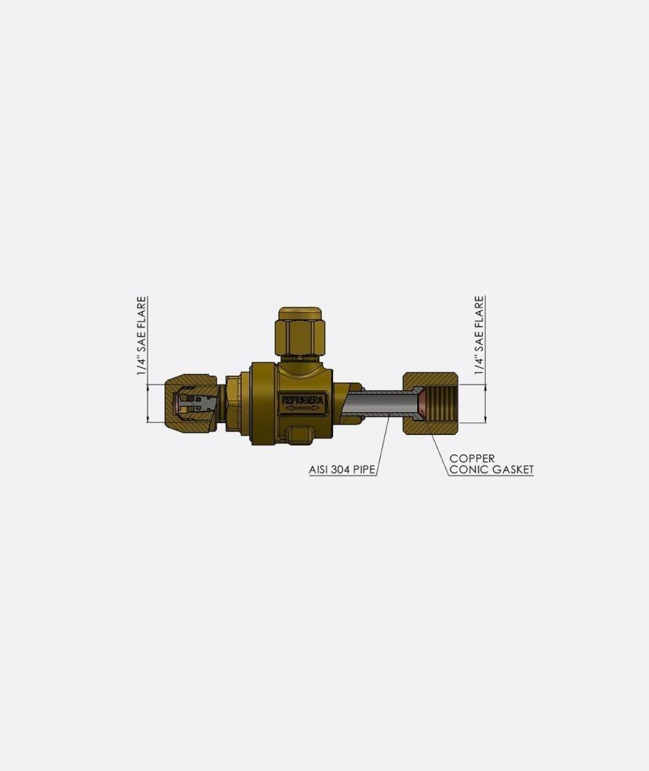 Refrigera Industriale CO2 service valve