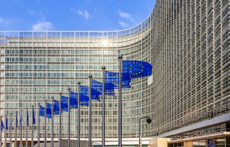 EU Commission working on the F-gas regulation, Berlaymont building, Brussels
