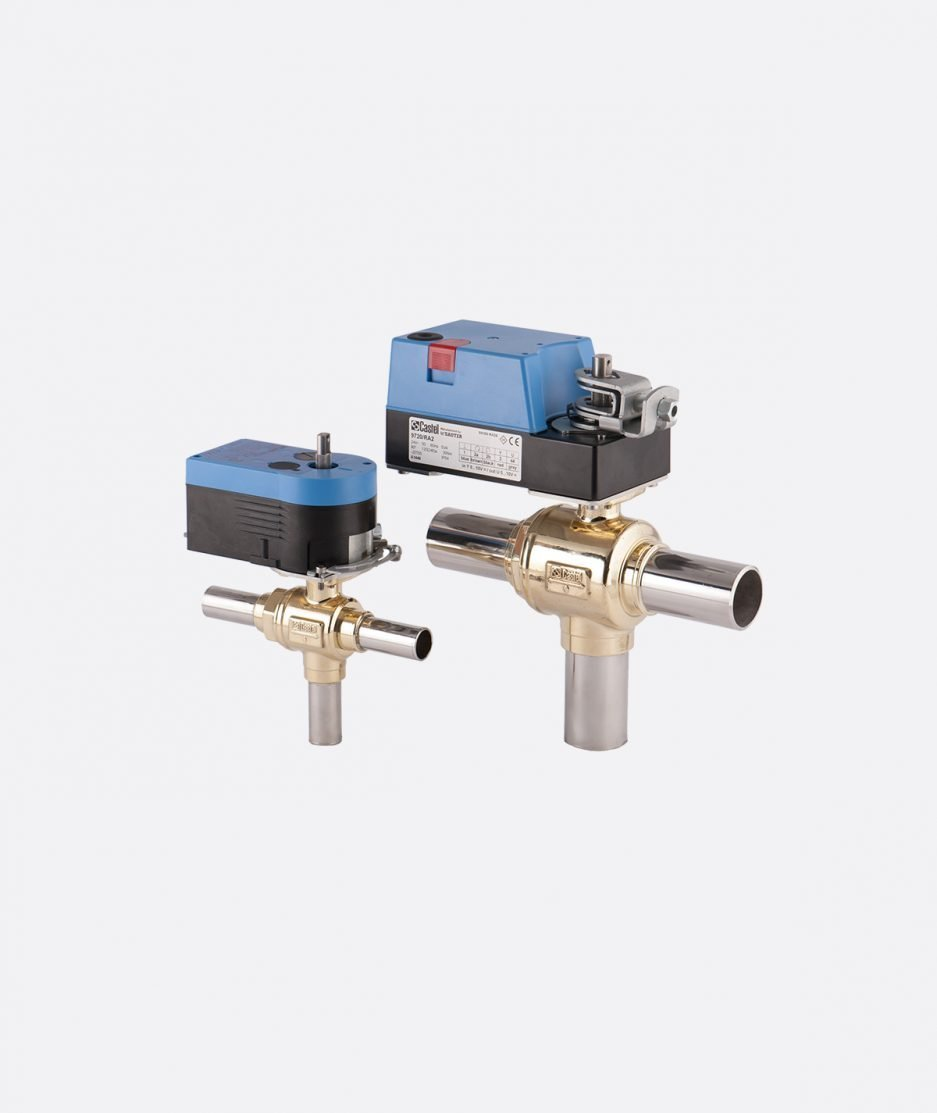 Castel motorized ball valves