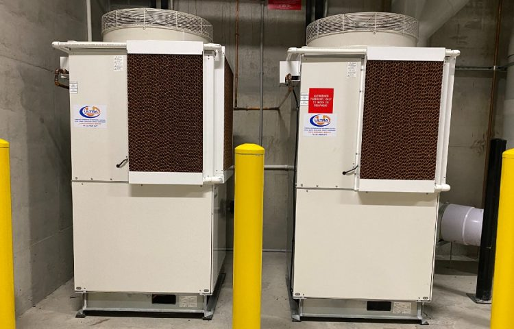 Two Panasonic 10HP transcritical CO2 condensing units installed by Hussmann at an Ambey's Big Apple store in Sydney