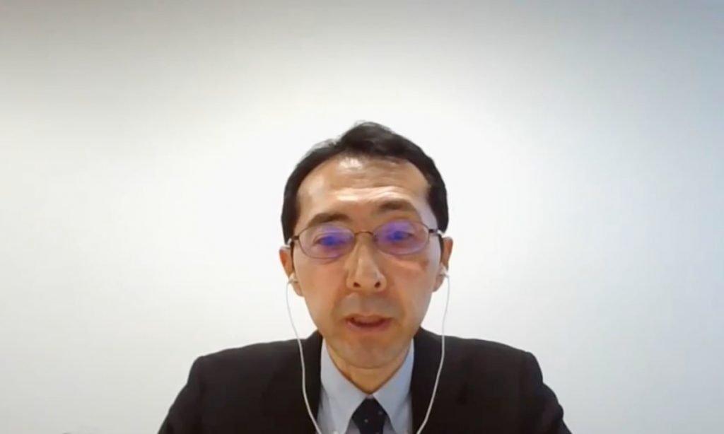 Shigehiro Yamada, Chugai Pharmaceutical presenting during ATMO Japan 2021