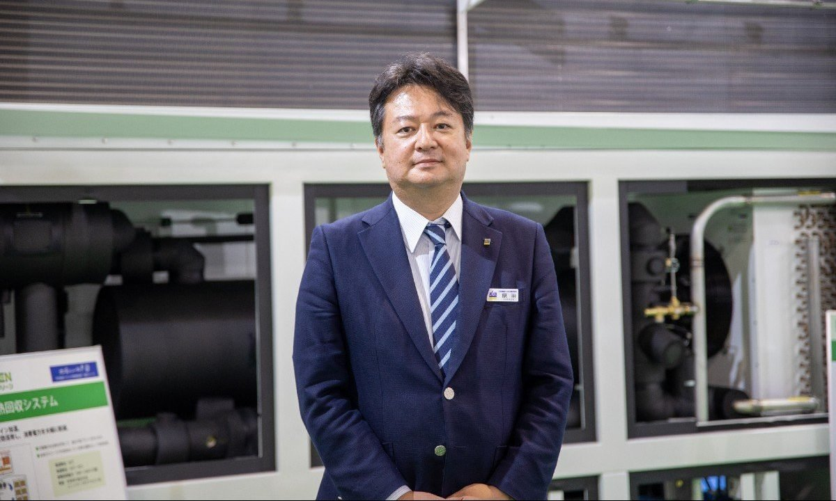 Nihon Netsugen Systems President Katsuhiko Harada at FOOMA Japan 2021
