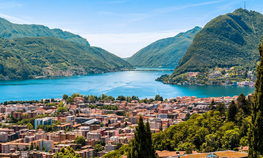 Lugano, Switzerland, where the CO2 AC Heating System from Biaggini is installed.