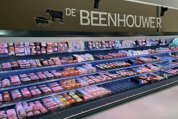 Carrier cabinet at Alma Supermarket in Belgium