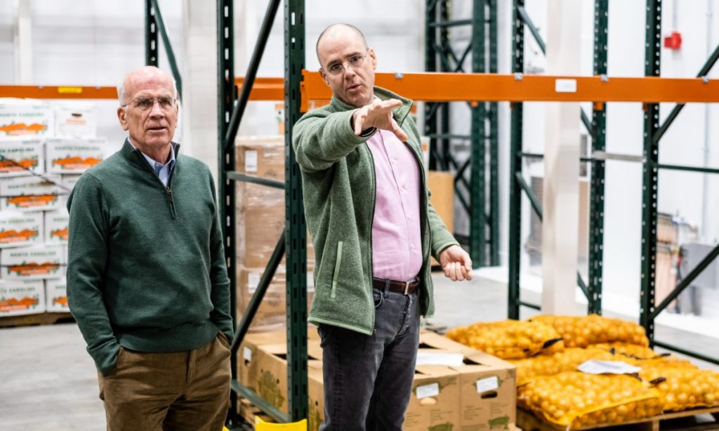 Welch and Sayles at Vermont Foodbank