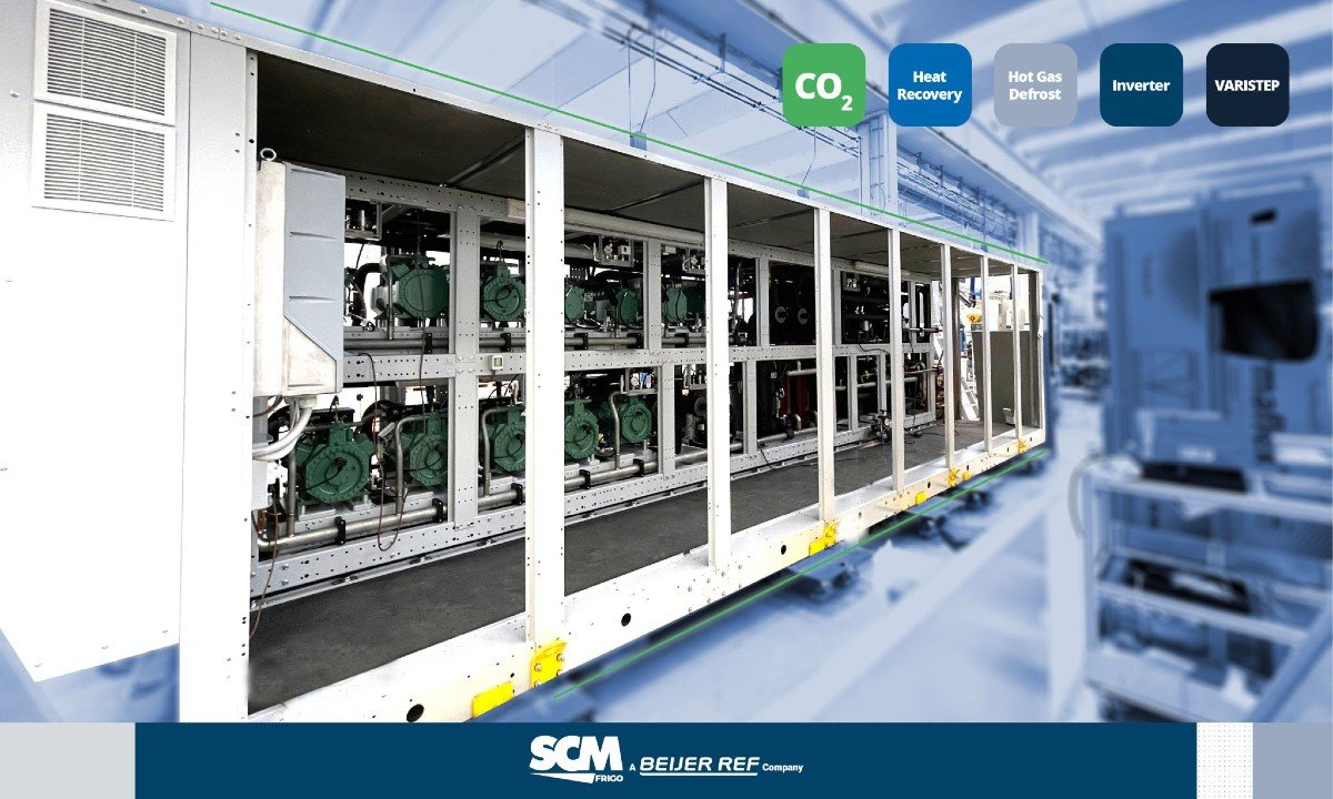 The rack from SCM Frigo delivered to Barcelona.